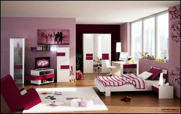 ... teen girls room View in gallery Grape ... & Teenage Girls Rooms Inspiration: 55 Design Ideas
