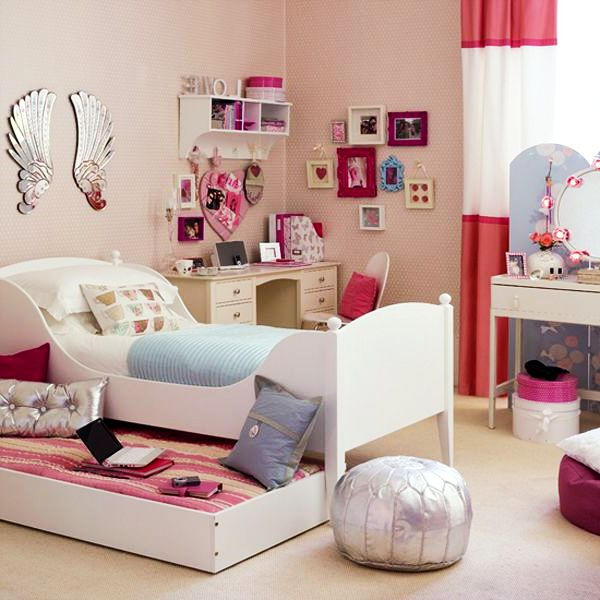 Teenage girls rooms inspiration 55 design ideas for Teenage bedroom designs for small bedrooms