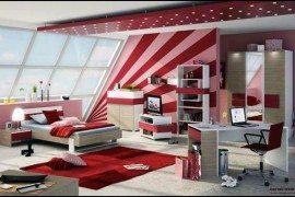 teenage girls room stripes