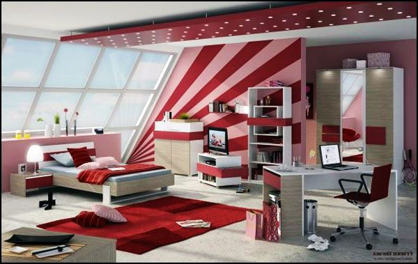 ... teenage girls room idea View in gallery Red ...