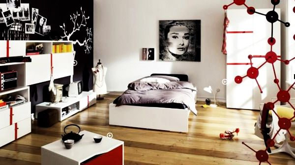trendy teenage bedroom