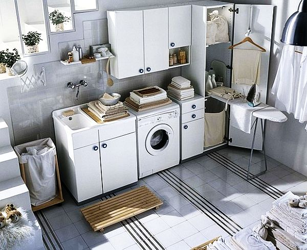 beautiful white laundry room decor - Laundry Room Decor