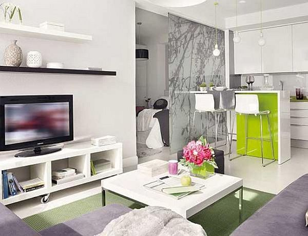 white small apartment space saving Tips to Make a Small Space Look Bigger
