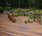 wooden decking backyard
