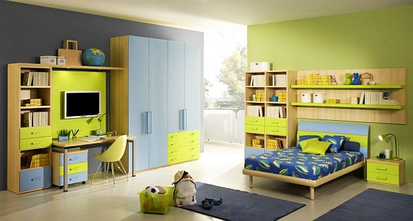 yellow blue Teenage Boys Rooms