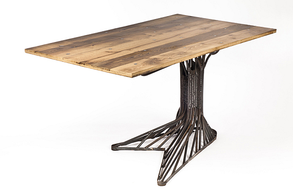 Oak Tree Table Made Of Steel Fancy Addition For Your Home