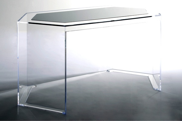 Maximize Your Space With Acrylic Furniture : AVF Axle Acrylic Desk from www.decoist.com size 600 x 400 jpeg 36kB