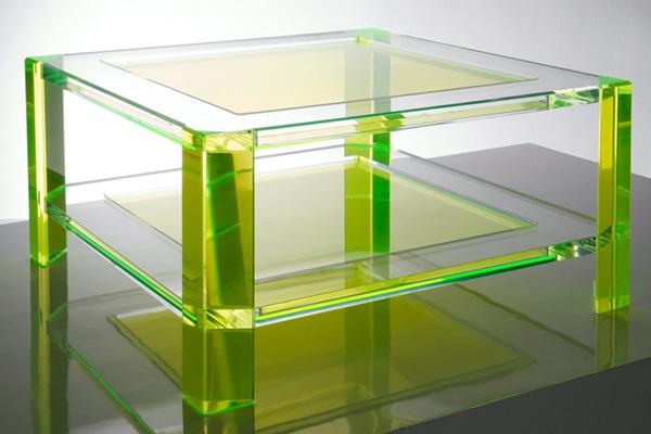 AVF Radiant Acrylic Green Coffee Table