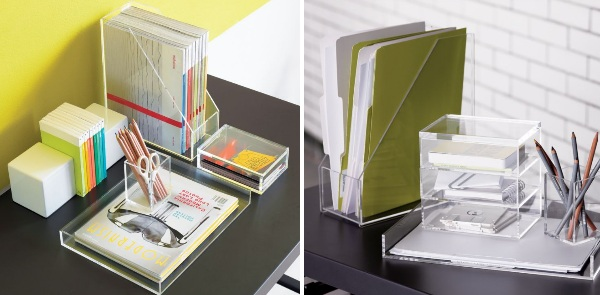 Acrylic Desk Accessories From CB2