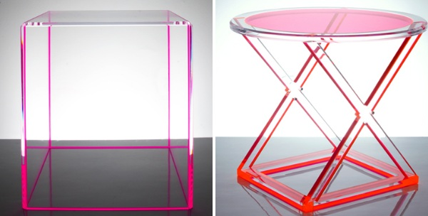 Lucite Acrylic Furniture. Acrylic Side Tables Lucite Furniture I