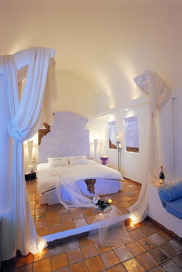 Astarte Suites Santorini baldachin bedroom