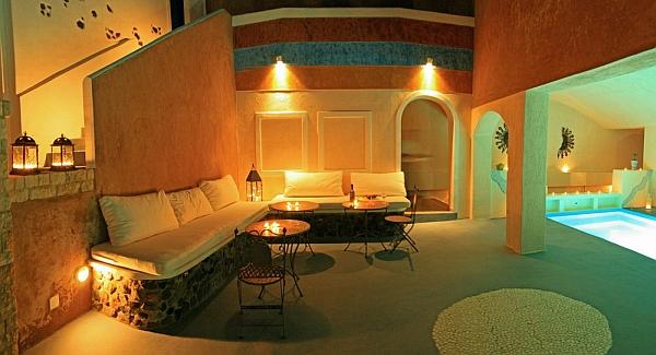 Astarte Suites Santorini exterior lounge area