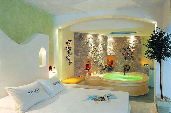 Astarte Suites Santorini interior apartment with jacuzzi