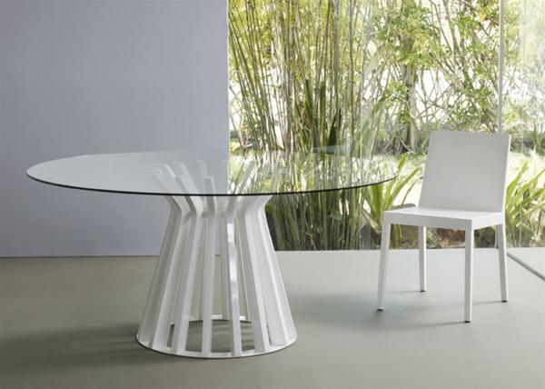 Bennett Dining Table Base in White Lacquer