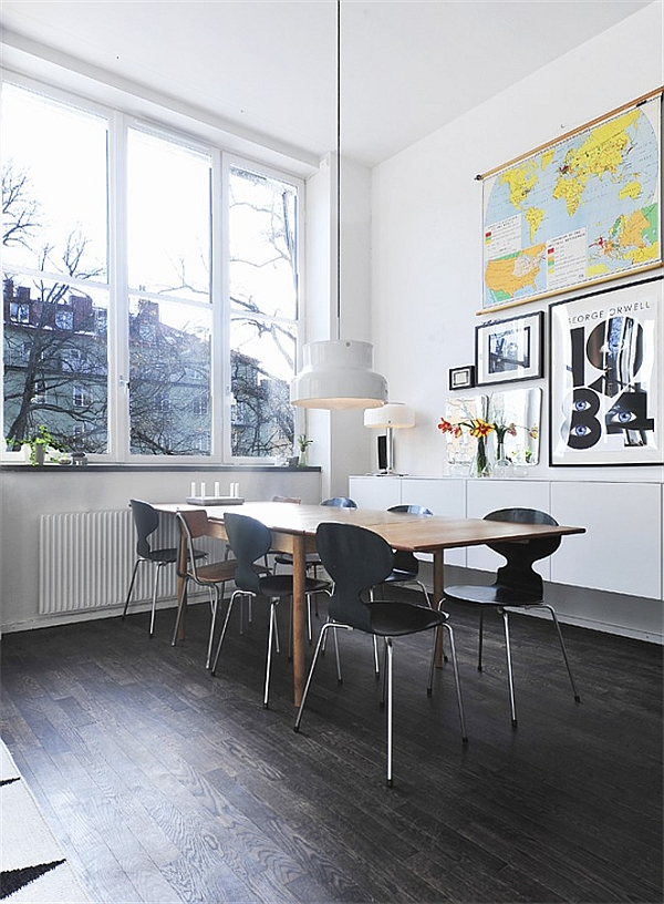 Black & White Contemporary Loft dining room