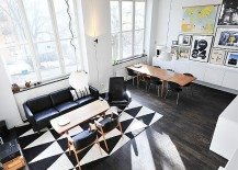 Black & White Contemporary Loft in Stockholm, Sweden
