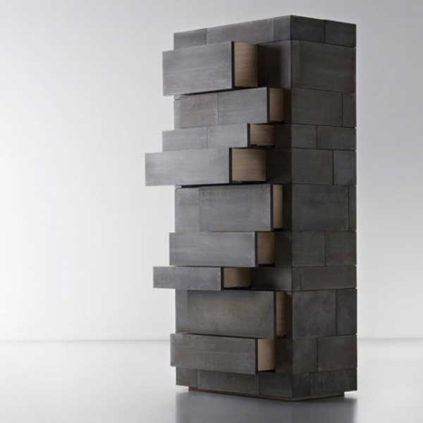 Celato by Factory De Castelli 2 Monolithic and Masculine Celato Storage Unit