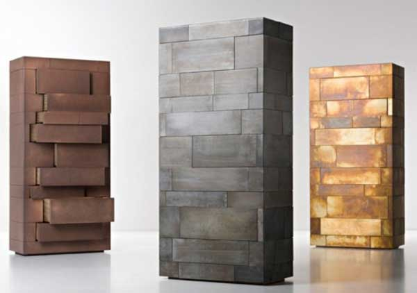 Celato by Factory De Castelli Monolithic and Masculine Celato Storage Unit