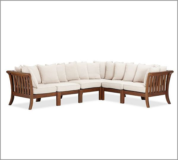 Furniture white wood modern living room contemporary wooden furniture - Chatham Sectional Cushion Set Carved Out Of Mahogany