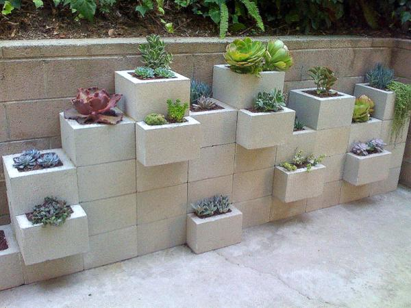 Cinder Block Garden Wall Vertical Garden DonT Cramp Your Garden