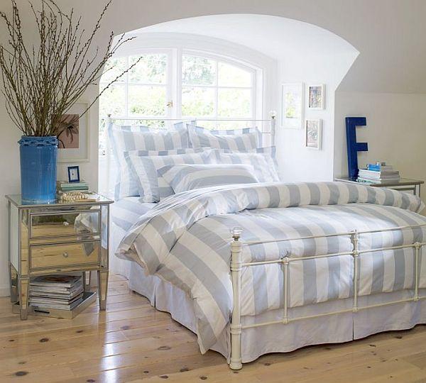 Classic Stripe Duvet Cover & Sham – Porcelain Blue 2