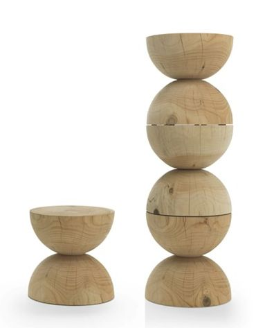 Clessidra Wooden Stool 2 Clessidra Wooden Stools Can Add Awesomeness to Your Interiors