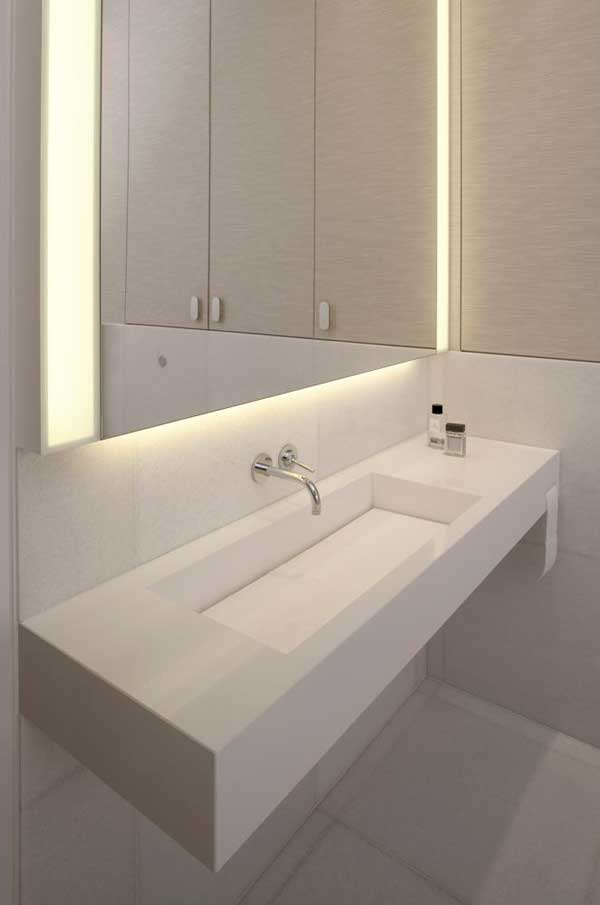 Contemporary Eko Park Apartment Interior – luxury washbasin