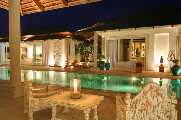 Contemporary Thailand Villa outdoor pool area