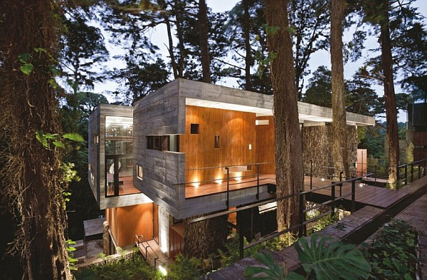 Corallo House by Paz Arquitectura glass concrete contemporary exterior Corallo House in Guatemala City is an Ultimate Charmer