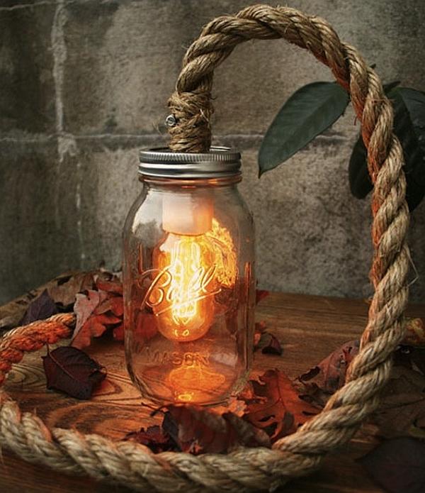 DIY Luke Lamps Rustic style