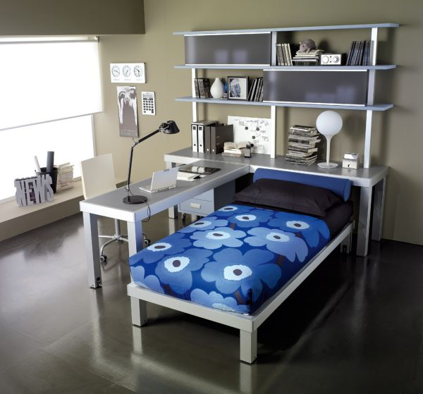 Decorate Your Kids Rooms with Blue and Grey