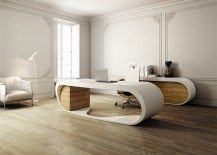 Ultra-modern Goggle Office Desks –  Rounded Shapes Design Ideas