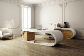 Ultra-modern Goggle Office Desks –  Rounded Shapes To Design