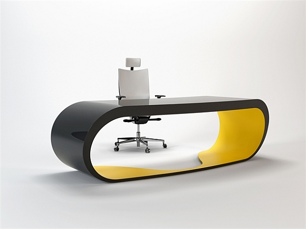 Goggle Office Desks black and yellow