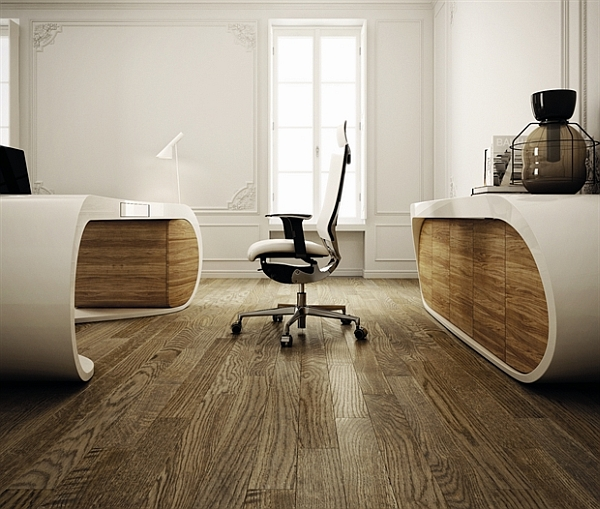 Ultra-Modern Goggle Office Desks - Rounded Shapes Design Ideas