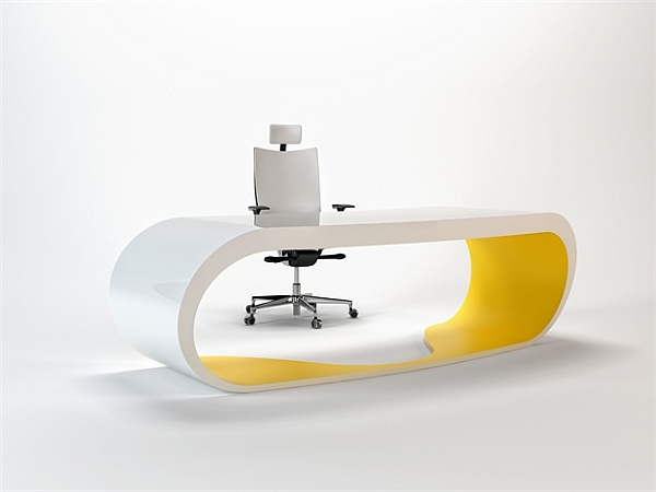Goggle Office Desks yellow