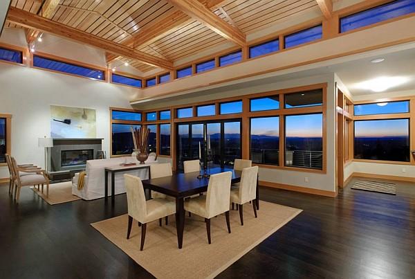 Harrison Street Residence glass living room