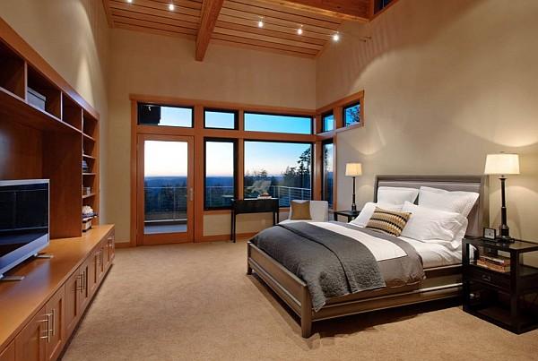 Harrison Street Residence stunning views bedroom