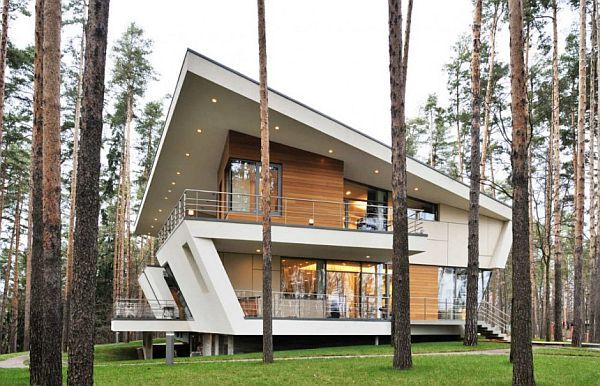 House in the Forest Moscow exterior House in the Woods Offers Lots of Tranquility