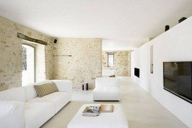 Italian House Renovation white living room design
