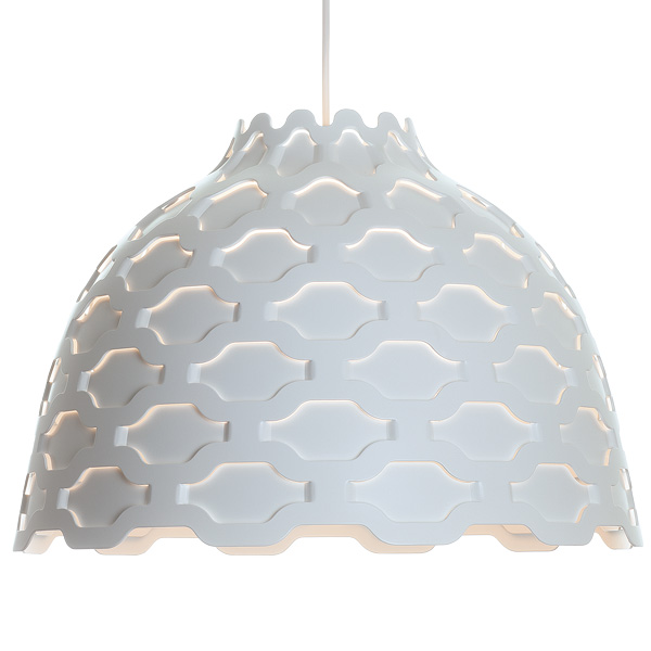 LC shutters pendant light by Louise Campbell Soft Light Pendant Lamp With Carefully Studied Details