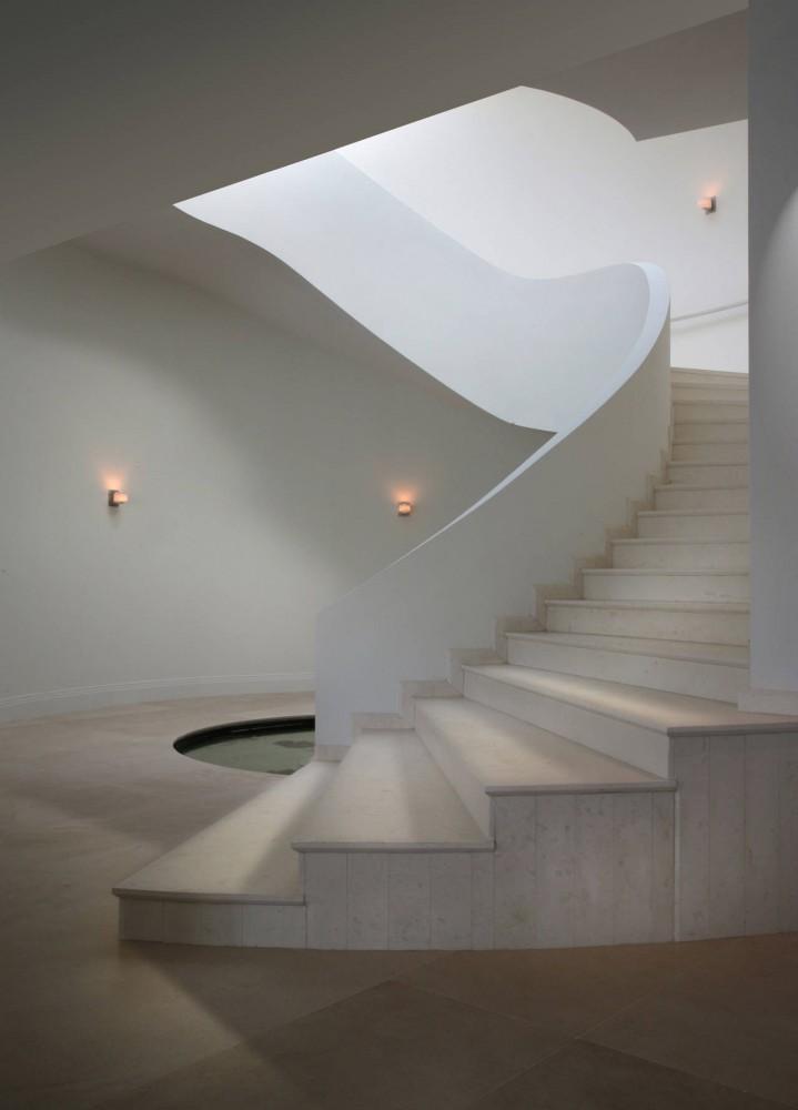 La Gorce Residence in Miami concrete staircase
