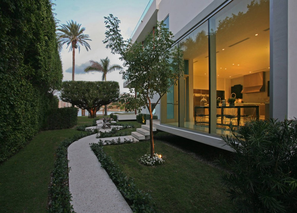 La Gorce Residence in Miami living room exterior view