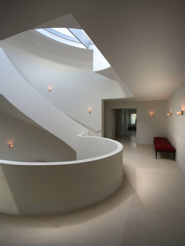 La Gorce Residence in Miami luminary staircase