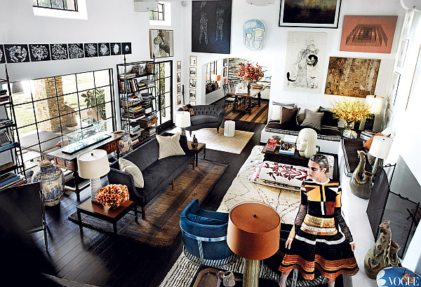 Living room styles Mario Testino interior design 1 Living Room Style: Mario Testinos Spectacular Design