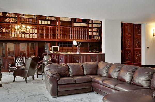 Luxury penthouse classic office furniture