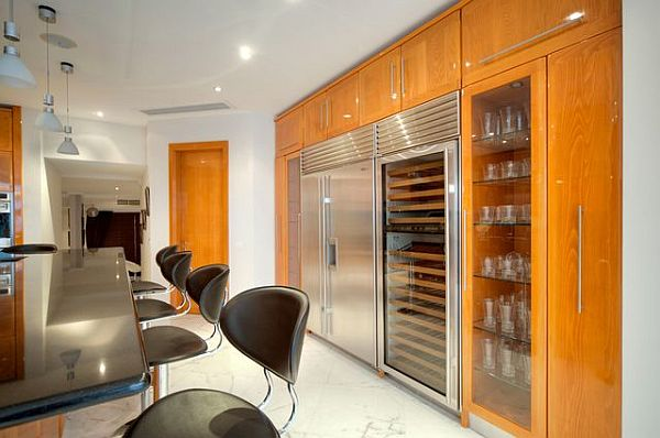 Luxury penthouse kitchen island and luxurious furniture