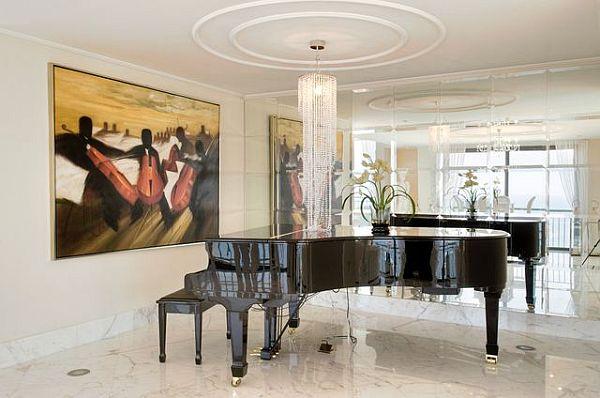 Luxury penthouse marble flooring