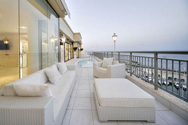 Luxury penthouse patio furniture balcony