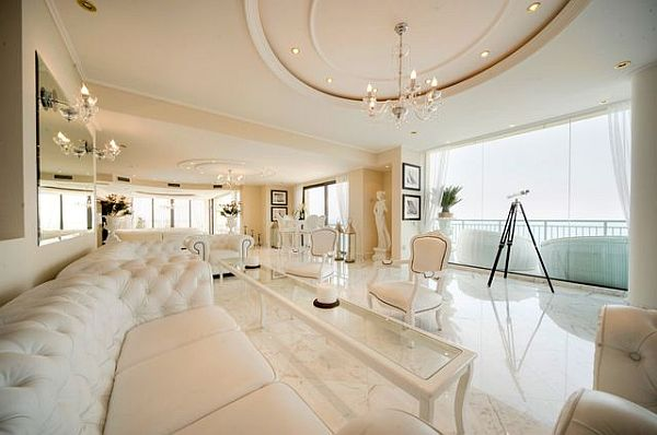Luxury penthouse posh living room furniture Luxury Penthouse in Malta: New Heights Of Extravaganza
